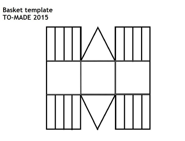 paper basket weaving template - paper basket